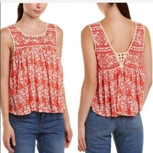 FREE PEOPLE  / Lucky Coin Linen Blend Tank Top